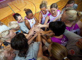 Before the All Star match in the FIBA International Camp For Girls (2012) runned in Postojna