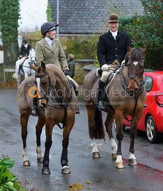 Jodie Parr, Peter Cooke at the meet - The Cottesmore at Knossington 22/11
