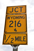Close up of Wyoming Highway Sign