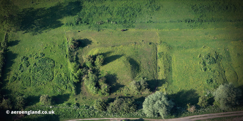 Aslockton Castle aka Cranmer's Mound Nottinghamshire aerial photograph