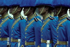 Thai soldiers on parade