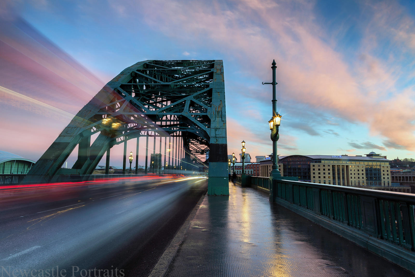 Sunset on the Tyne Bridge