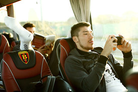 Alex DUJSHEBAEV of Vardar during the Final Tournament - Final Four - SEHA - Gazprom league, team arrival in Varazdin, Croatia, 30.03.2016, ..Mandatory Credit ©SEHA/Stanko Gruden