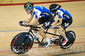 Para-cycling time trial 1km tandem. 2015 Canadian Track Championships, October 7, 2015