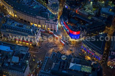 London. Aerial view of Piccadilly Circus