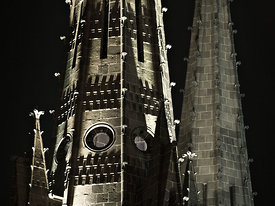 Spires of Clermont Ferrand cathedral