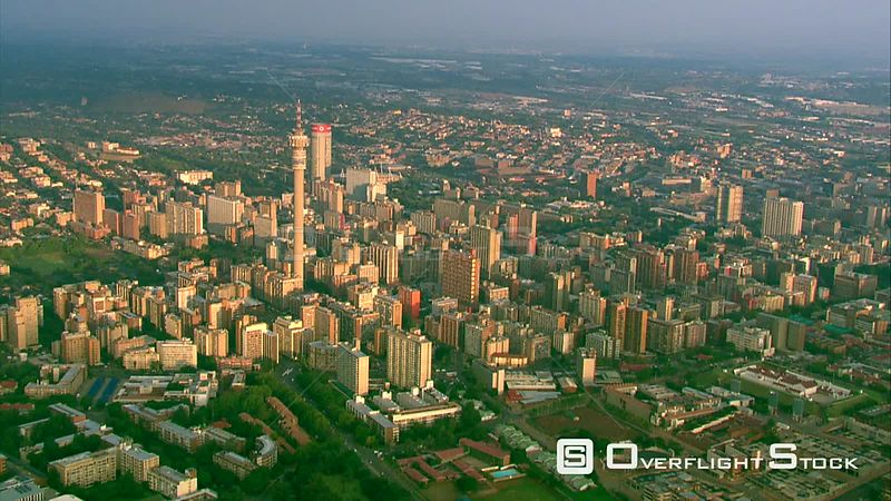 Aerial shot of Johannesburg. Pretoria Gauteng South Africa