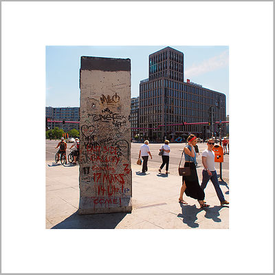 7th July 2013 - Remains of the Wall - Potsdamer Platz, Berlin (Germany)