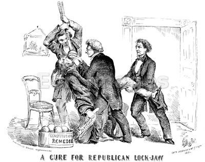 Cartoon-A cure for Republican lockjaw