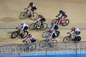 Cat 2 Women Points Race. Track O-Cup #2, Mattamy National Cycling Centre, Milton, On, January 15, 2017