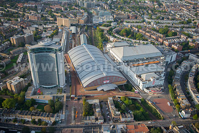 Aerial view of Earls Court, London Borough of Kensington and Chelsea, London