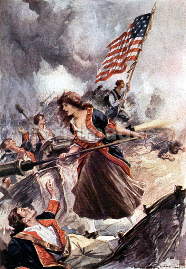 Mary Ludwig Hays AKA Molly Pitcher at Battle of Monmouth