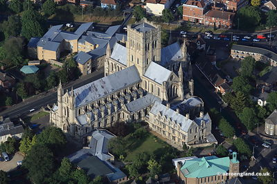 aerial photograph of St John the Baptist Cathedral, Norwich.