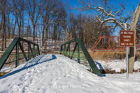 20 Mile Road Bridge in Historic Bridge Park in Calhoun County, MI