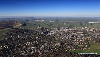 aerial photograph of Buxton Derbyshire England UK