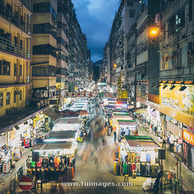 street market in Prince edward and mongkok
