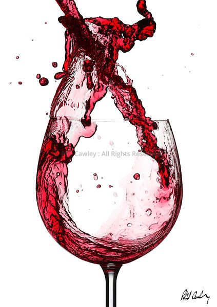 Wine Splash Series Pouring Red Wine Splashings