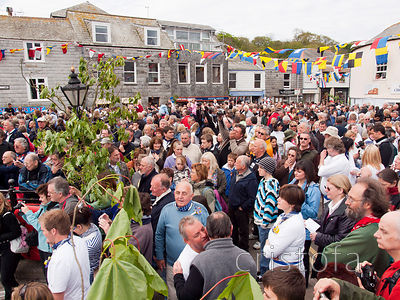 Padstow is full on Obby Oss Day