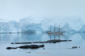 A schooner found at Port Lockroy in the Antarctic Peninsula.