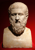 "I cent. A.D. Marble portrait of Plato. ""Portraits. The Many Faces of Power"" Exhibition"