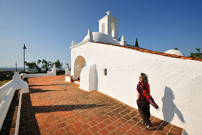 The bright white Nossa Senhora de Guadalupe chapel. Serpa, Portugal