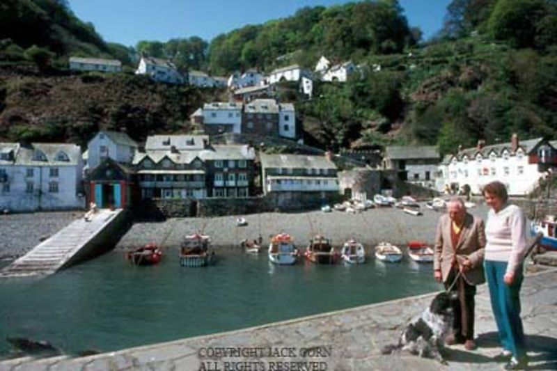 England, Family with dog , Clovelly