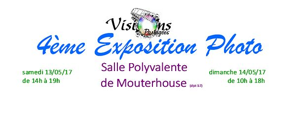 EXPOSITION VISIONS PARTAGEES Mai 2017  photos