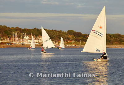 Dinghies on West Kirby marine lake
