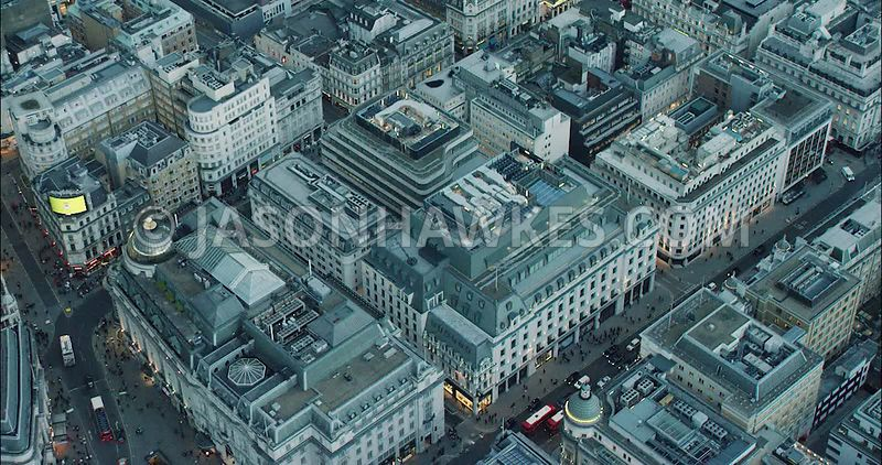 London Aerial Footage of Piccadilly Circus, Criterion Building.