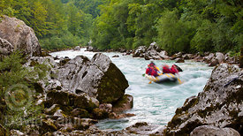 Rafting on the Soča river (last rapids section)