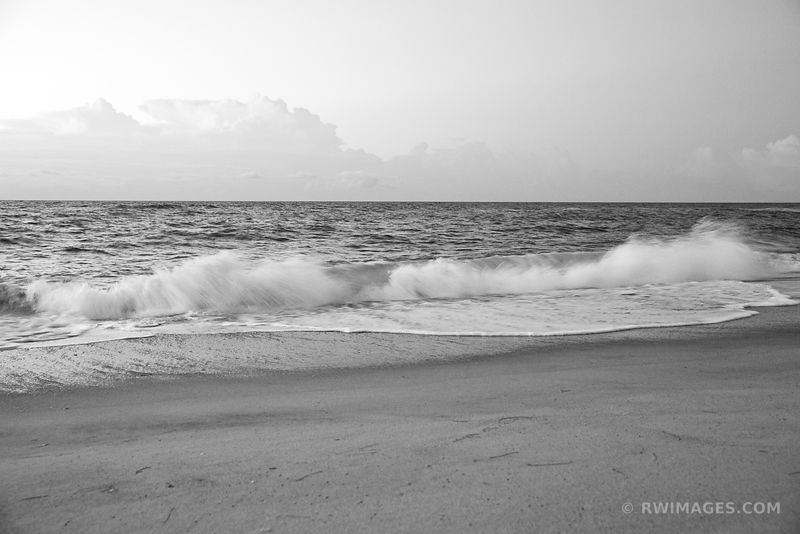 CAPE HATTERAS NATIONAL SEASHORE OUTER BANKS NC BLACK AND WHITE