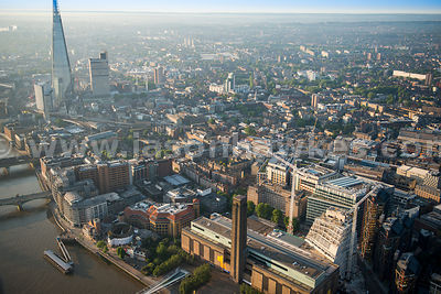 Aerial view of the Tate Modern, London