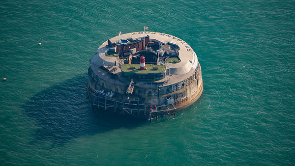 Aerial View of Spitbank Fort