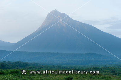 Volcano Mount Mikeno, Virunga National Park, DR Congo