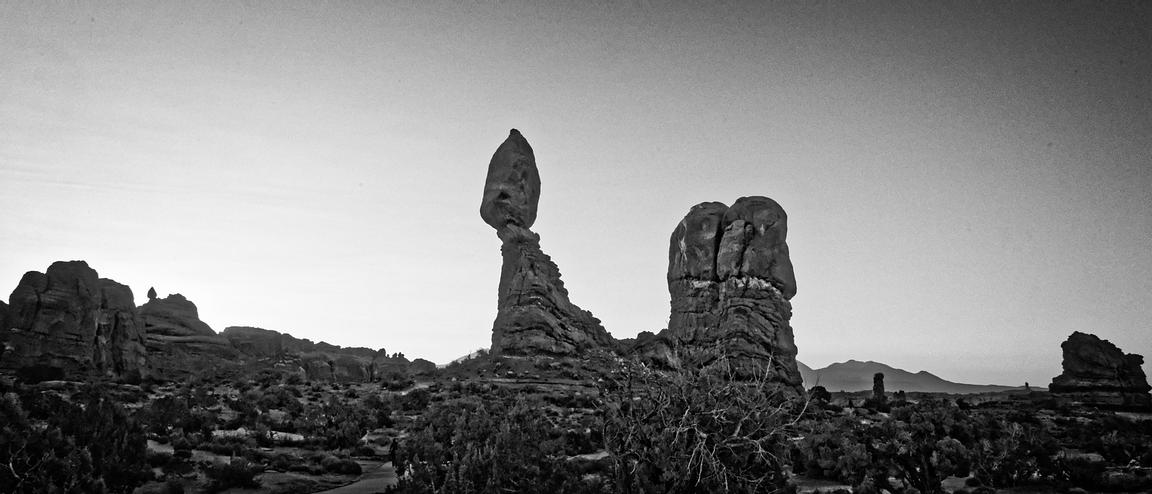 Balanced Rock B&W