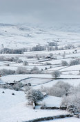 Peaceful snow scene in the Howgills, near Ravenstonedale, Cumbria, UK