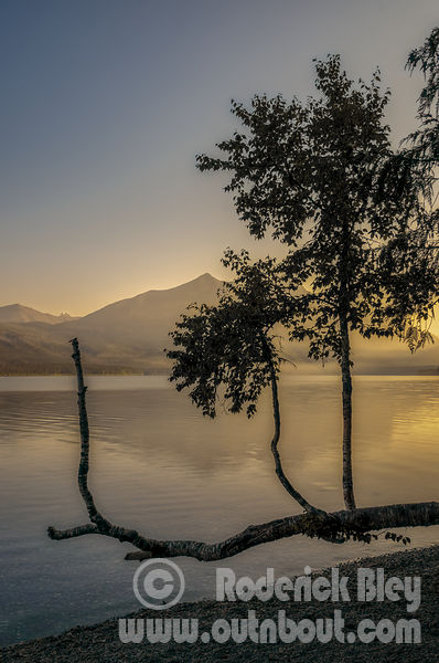 Early Morning Sunrise on Lake McDonald
