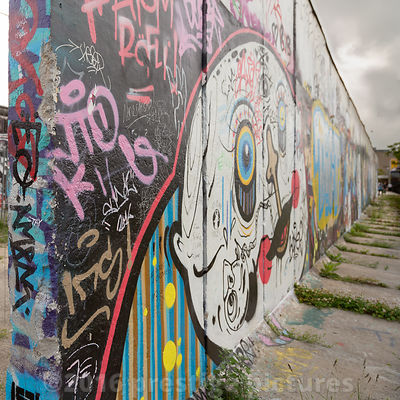 The Berlin Wall in 2016 at the East Side Gallery