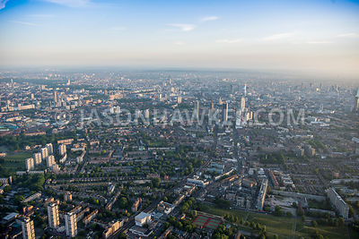 Aerial view of London, Kennington Park Road.