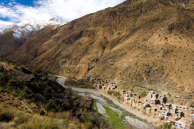 Setti-Fatma Village, Vallee de l'Ourika (Ourika Valley), south of Marrakech, in the High Atlas Mountains, Morocco, Africa