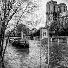 FLOODS OF THE SEINE IN JANUARY, 2018 Photos de Paris