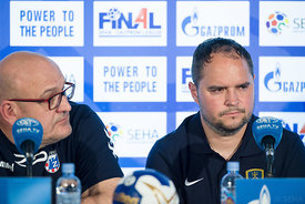 Zlatko Saracevic, Branko Tamse at the opening press conference during the Final Tournament - Final Four - SEHA - Gazprom league, Skopje, 12.04.2018, Mandatory Credit ©SEHA/ Sasa Pahic Szabo