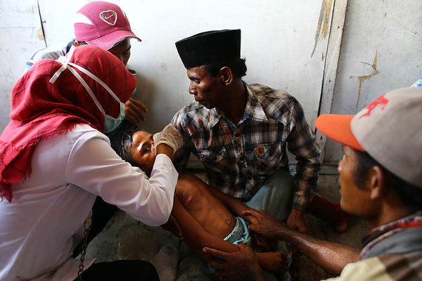 Abi received first aid in the infirmary before being transferred to the hospital in Sumbawa Besar.