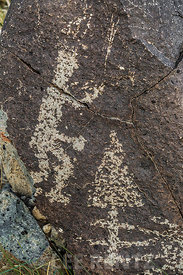 Rock Art with Human Figure at Three Rivers Petroglyph Site