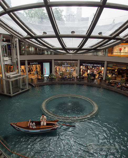 Singapore - The Shoppes at Marina Bay Sands (Canal Boat)