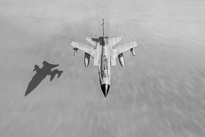 Desert Storm Tornado low level black and white version