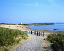beach at burry port near llanelli carmarthenshire west wales