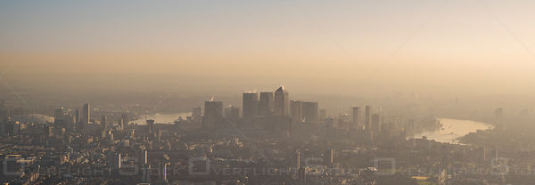 Panoramic Vista Cityscape of Downtown London England