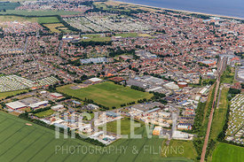 Aerial Photographs taken over the town of Skegness, UK