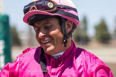 Hugo Herrera, winning jockey